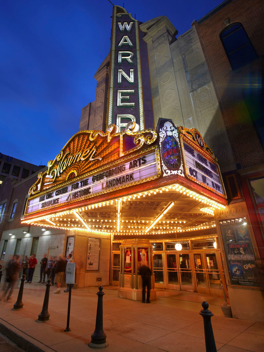 Luxury apartments in Erie, PA, South Shore Place, is near Erie's Warner Theatre.