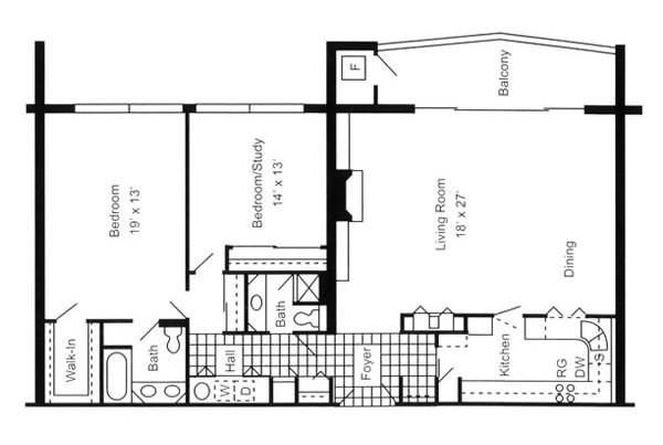 Two Bedroom 1,440 Sq. Ft.