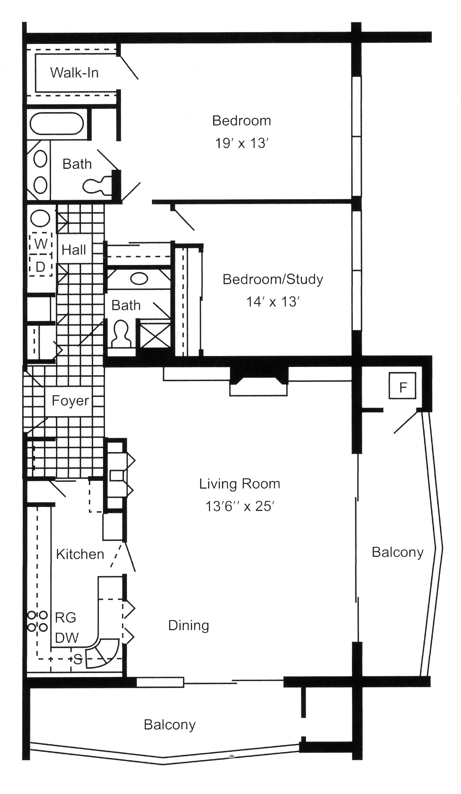 Luxury apartments in Erie, PA, South Shore Place, offers two bedroom, two bathroom 1,400 square foot corner apartments.