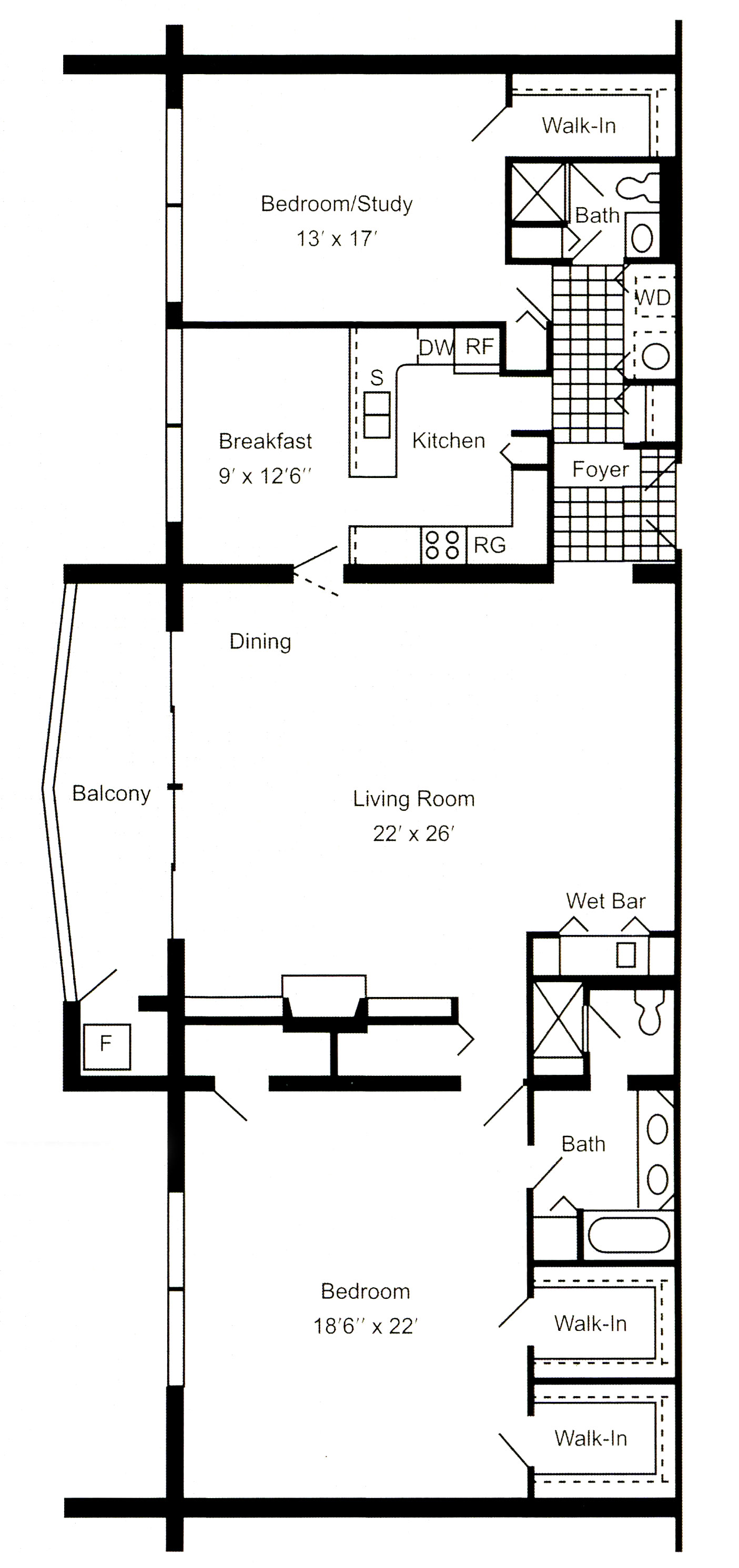 Luxury apartments in Erie, PA, South Shore Place, offers two bedroom, two bathroom 2,000 square foot penthouse apartments.